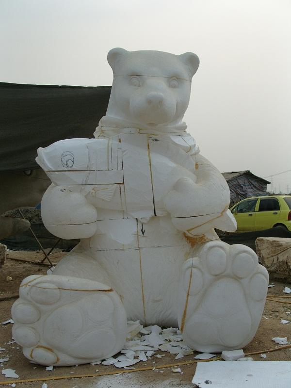 泡沫雕塑北极熊