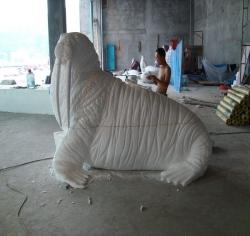 泡沫雕塑海狮