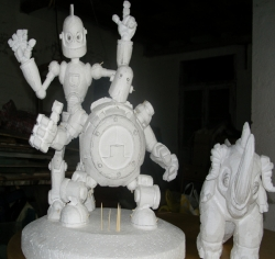 泡沫雕塑卡通人物