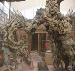 沈阳上海仿木雕塑