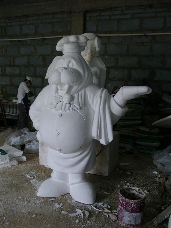 谁知道泡沫雕塑制作流程是什么